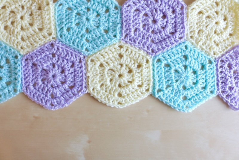Crochet Stitches Bella Coco : Solid Hexagon Free pattern - Bella Coco by Sarah-Jayne