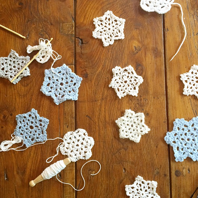 Crochet snowflakes for the snowflake Homestart appeal